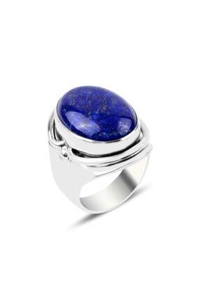 Tevuli Gümüş 925 Ayar Lapis Lazuli Taşlı El Işi Yüzük