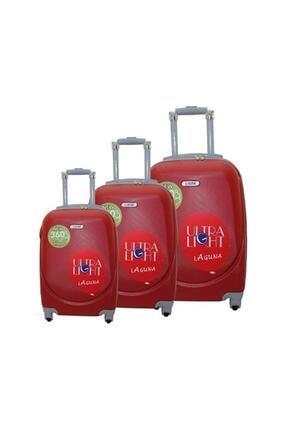 Laguna 2022 Abs Valiz Bavul Seti Kırmızı
