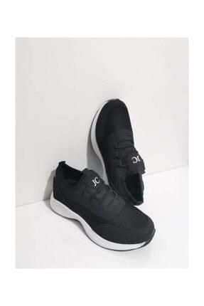 Gezer Ortopedik Aqua Ipli Lastikli Kadın Spor Ayakkabı Yürüyüş Günlük Sneaker Fileli Siyah 114