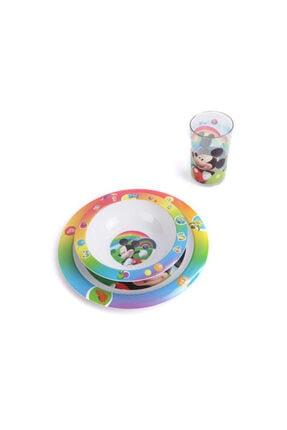 Çocuk Yemek Takımı Seti Tabak Kase Bardak Disney Mickey SET05