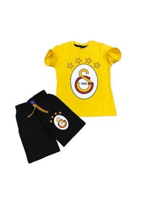 Galatasaray Çocuk Sarı Şortlu Takım
