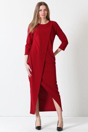 Herry Kadın Bordo Elbise 17pk6571