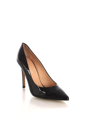 POLETTO Rugan Siyah Kadın Topuklu Ayakkabı
