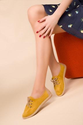 SOHO Hardal Sarı Süet Kadın Casual Ayakkabı 14710