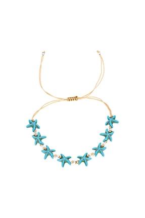Silver Bazaar Gümüş Toplu Mavi Deniz Yıldızı Halhal