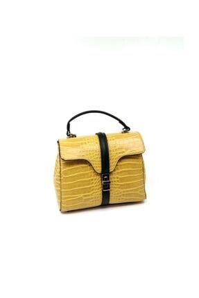 Dsn Kadın Çanta Sarı/kroko
