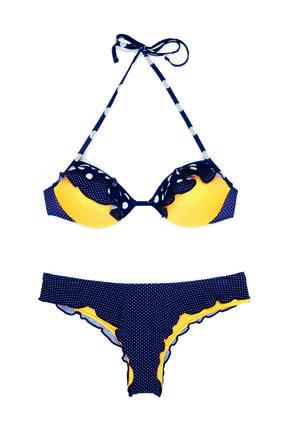 BONESTA Puantiye Desenli Bikini