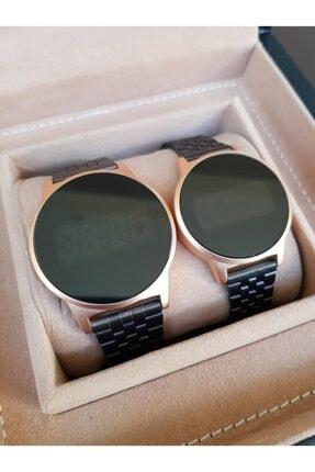 Spectrum Siyah Çelik Klipsli Kordon Sarı Kasa Dokunmatik Ekranlı Sevgili Saatleri