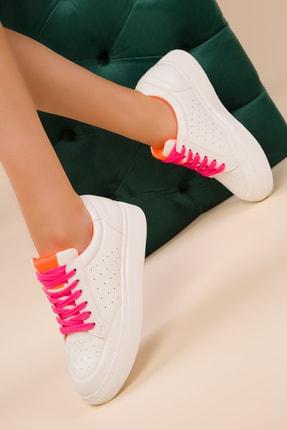 SOHO Beyaz-Turuncu-Fusya Kadın Sneaker 14980