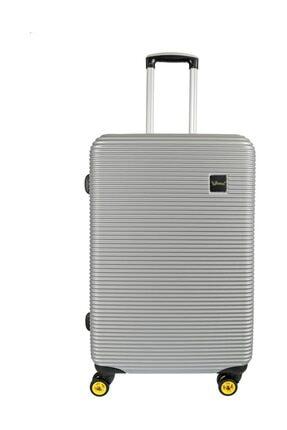 YOUNG Unisex Gümüş Valiz/Bavul  YGVLZ5203-M