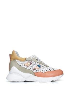 Bueno Shoes Hakiki Deri Bağcık Detaylı Kadın Spor Ayakkabı 20wq1801