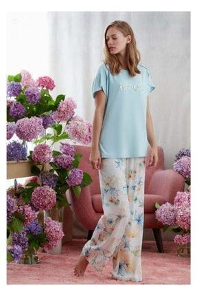 CATHERINE'S 1605 Kadın Pijama Takım Mavi