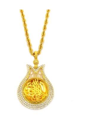Safir Kuyumculuk Kadın Osmanlı Tuğralı Altın Kolye  Kl09487