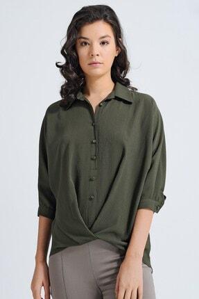 Jument Bürümcük Yakalı Yarasa Kol Gömlek