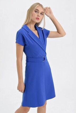 Jument Kadın Saks Elbise 50014