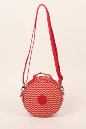 Smart Bags Kadın Kırmızı/bej Mini Yuvarlak Çapraz Çanta