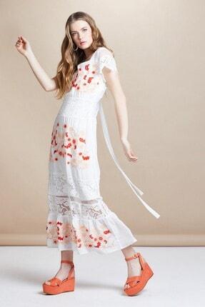 Serpil Desenli Güpür Elbise