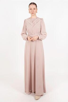 Puane Elbise Bej -pn12180