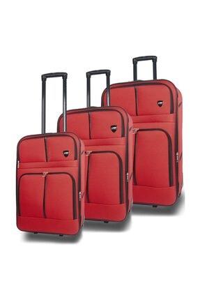NK Kumaş Küçük Orta Büyük 3lü Tekerlekli Valiz Bavul Seti