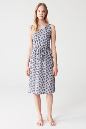 Mod Collection Kadın Gri Melanj Elbise