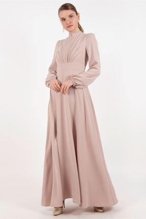 Puane Elbise Bej -pn12179