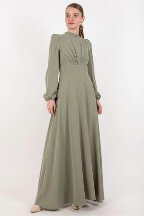 Puane Kadın Çağla Yeşil Elbise -pn12179