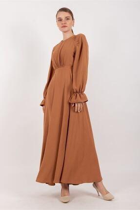 Puane Kadın Büzgülü Mask  Astarsız Elbise