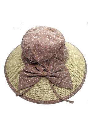 Bay Şapkaci Siperli Kadın Hasır Şapka
