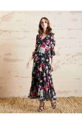 Serpil Kadın Çiçek Desenli Elbise