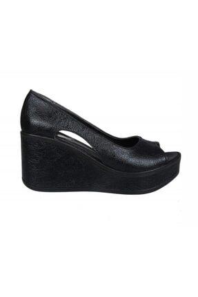Guja 20y409-2 Dolgu Topuk Siyah Kadın Ayakkabı