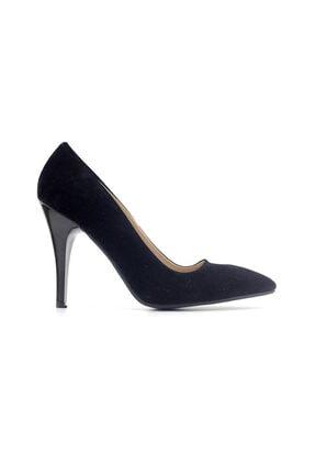 Punto 462001 Kadın Topuklu Ayakkabı-siyah Süet