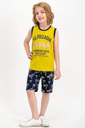 U.S Polo Assn. Erkek Çocuk  Lisanslı Fıstık  Bermuda Takım