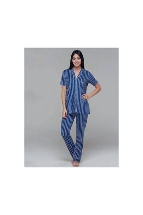 PJS PİJAMA Önden Düğmeli Kadın Pijama Takım