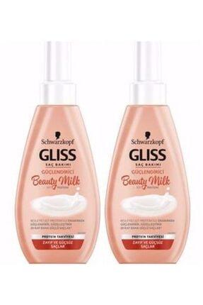 Gliss Güçlendirici Saç Bakım Spreyi Beauty Milk 150ml 2 Adet