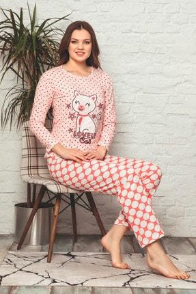 D-Paris Baskılı Uzun Kol Pijama Takımı