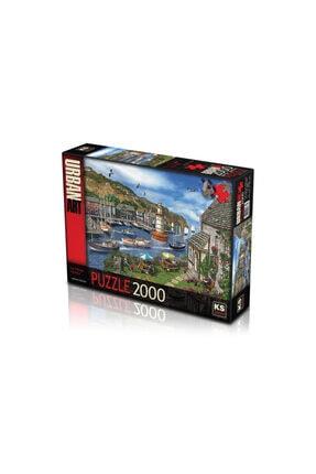 2000 Parça Puzzle Seti (village Harbour) 13 puzzle 2000 parça