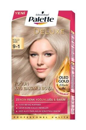 Palette Deluxe Kit Saç Boyası 9-1 Küllü Sarı