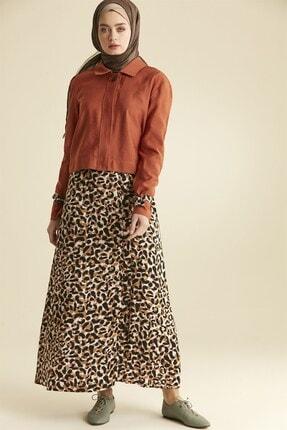 Nihan Kadın Kiremit  Etekli Ceket Takım 9a5074