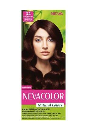 Neva Color Saç Boyası Seti 3.4 Koyu Kestane 8698636612159