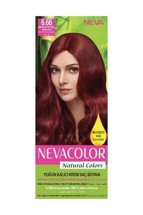 Neva Color Kalıcı Saç Boya Seti  6.66 Büyüleyici Kızıl  8690057006630