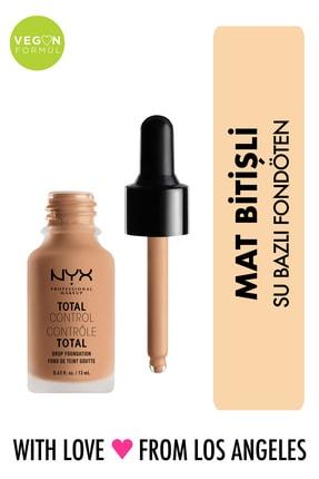 NYX Professional Makeup Mat Fondöten - Total Control Drop Foundation Natural 800897068806