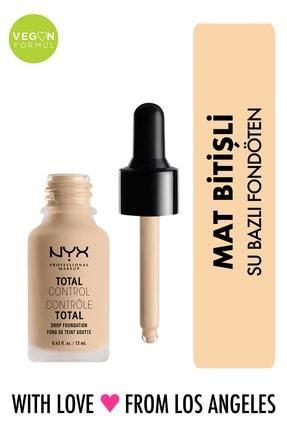 NYX Professional Makeup Mat Fondöten - Total Control Drop Foundation Alabaster 800897068752