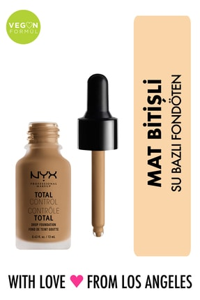 NYX Professional Makeup Mat Fondöten - Total Control Drop Foundation Caramel 800897068882