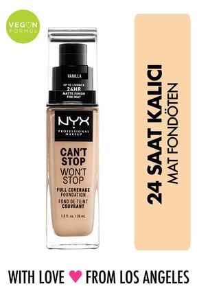 NYX Professional Makeup Fondöten - Can't Stop Won't Stop Full Coverage Foundation 06 Vanilla 30 ml 800897157210