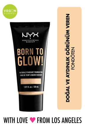NYX Professional Makeup Fondöten - Born To Glow! Naturally Radiant Foundation 1 Pale 800897190279