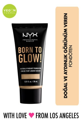 NYX Professional Makeup Fondöten - Born To Glow! Naturally Radiant Foundation 6.5 Nude 800897190361