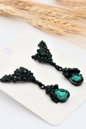 Yeşil Abiye Küpe EYLKP0165