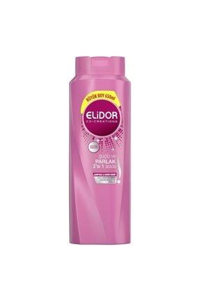 Elidor Güçlü Ve Parlak 2'si 1 Arada Şampuan Ve Saç Kremi 650 Ml