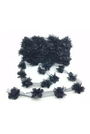 Siyah Lazer Kesim Lazer Çiçek 4 Metre BM1869