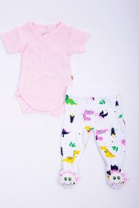 Minidamla Kız Bebek Kaşkorse Zıbın Oyuncaklı Pantolon Takım